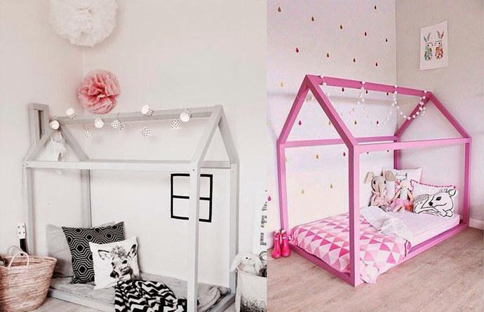 Quarto montessoriano casinha cama 2
