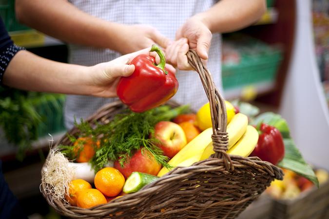 Basket filled healthy food   dig