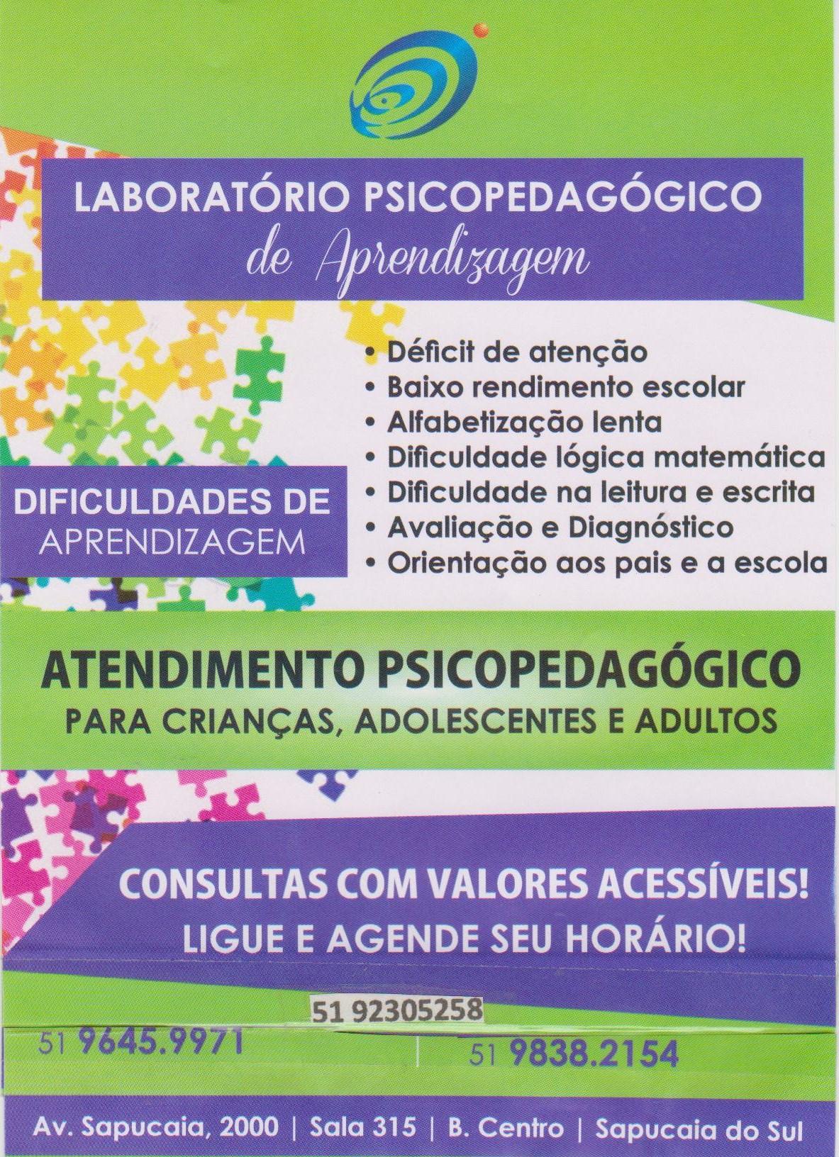 Folder psicopedagogia