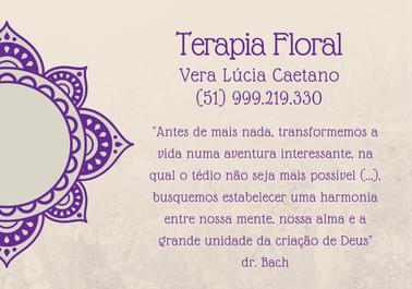 Flyer terapia floral mandala texto