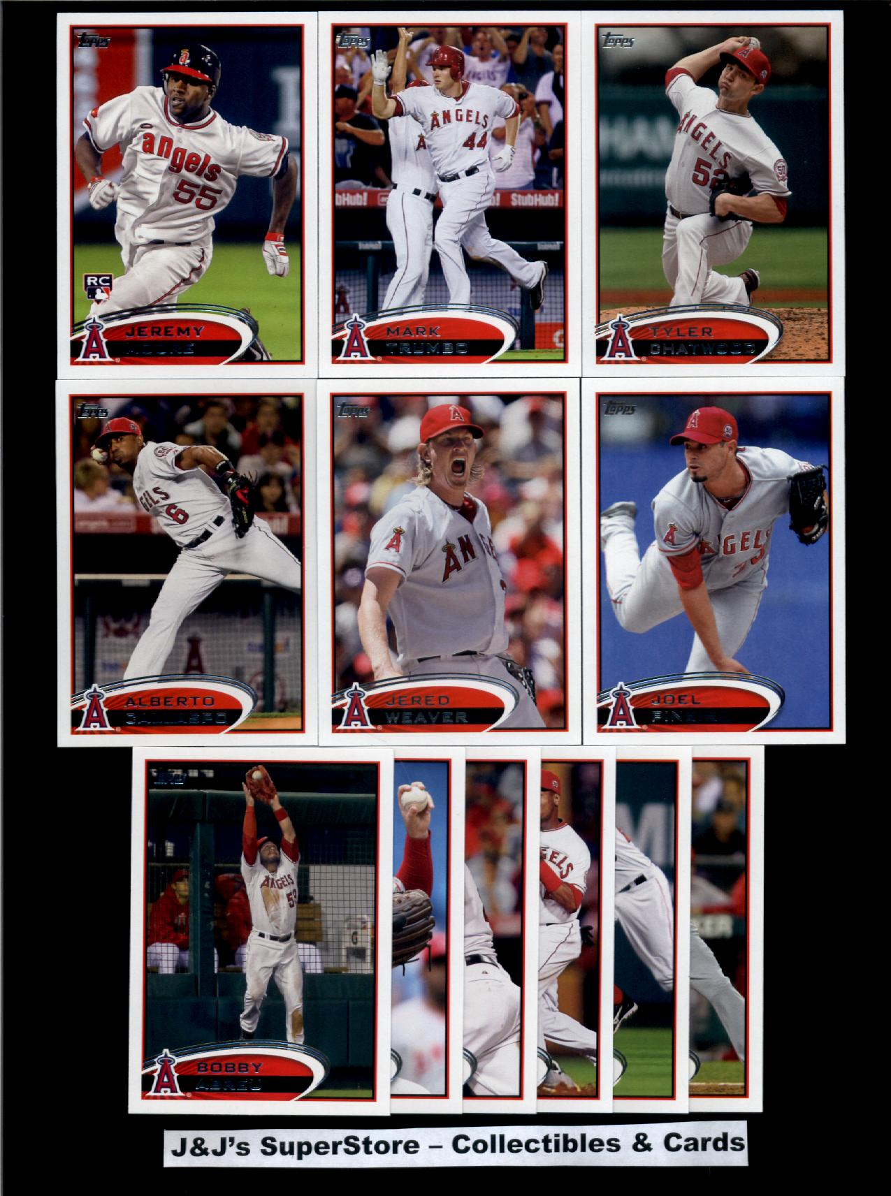 Topps 2012 Topps Los Angeles Angels Master Team Set-36 Cards-Mike Trout,Albert Pujols,Iannetta,Weaver,Trumbo,Williams,Wilson,Greinke at Sears.com