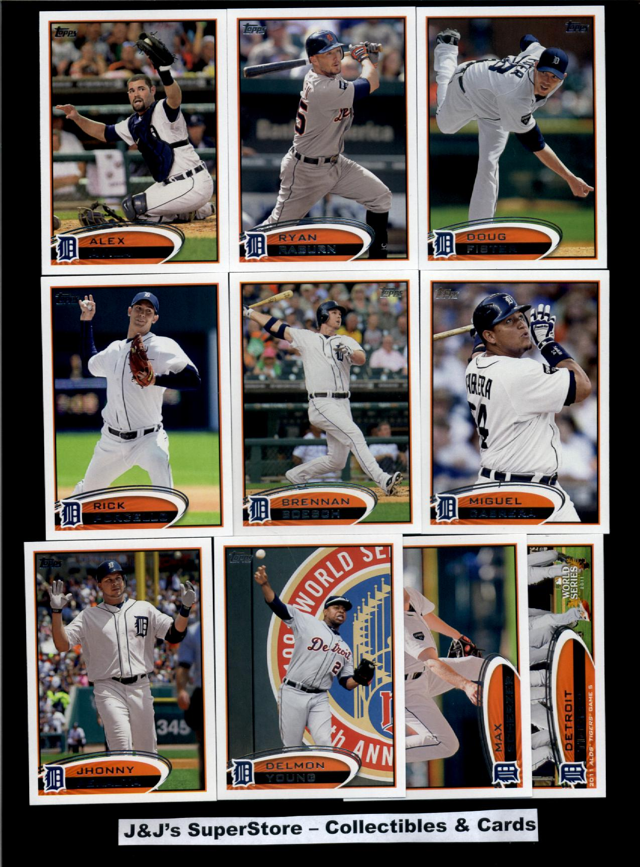 Topps 2012 Topps Detroit Tigers Master Team Set-34 Cards-Prince Fielder,Berry,Dotel,Cabrera,Sanchez,Infante,Smyly,Verl&er,Fielder at Sears.com