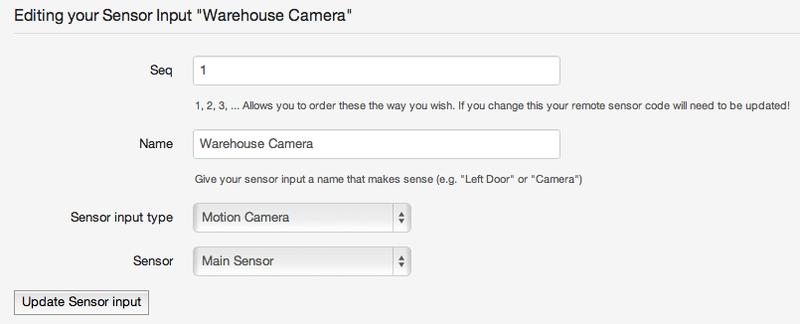 Sensor Input for a Camera
