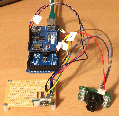 One Asset Place camera in breadboard stage