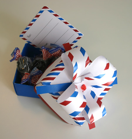 origami box air mail style
