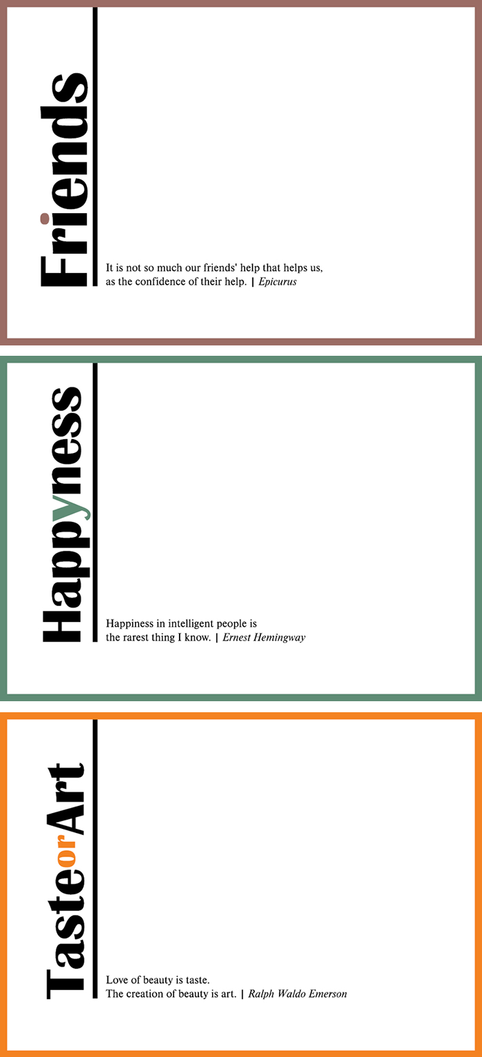 Greeting Cards Minimal Design And Clever Quotes Print Cut Paste