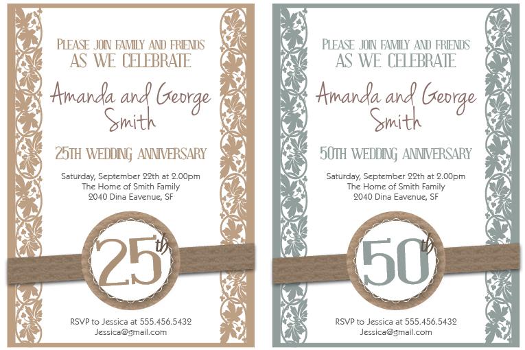 free 25th wedding anniversary cards printable - 28 images - wedding ...