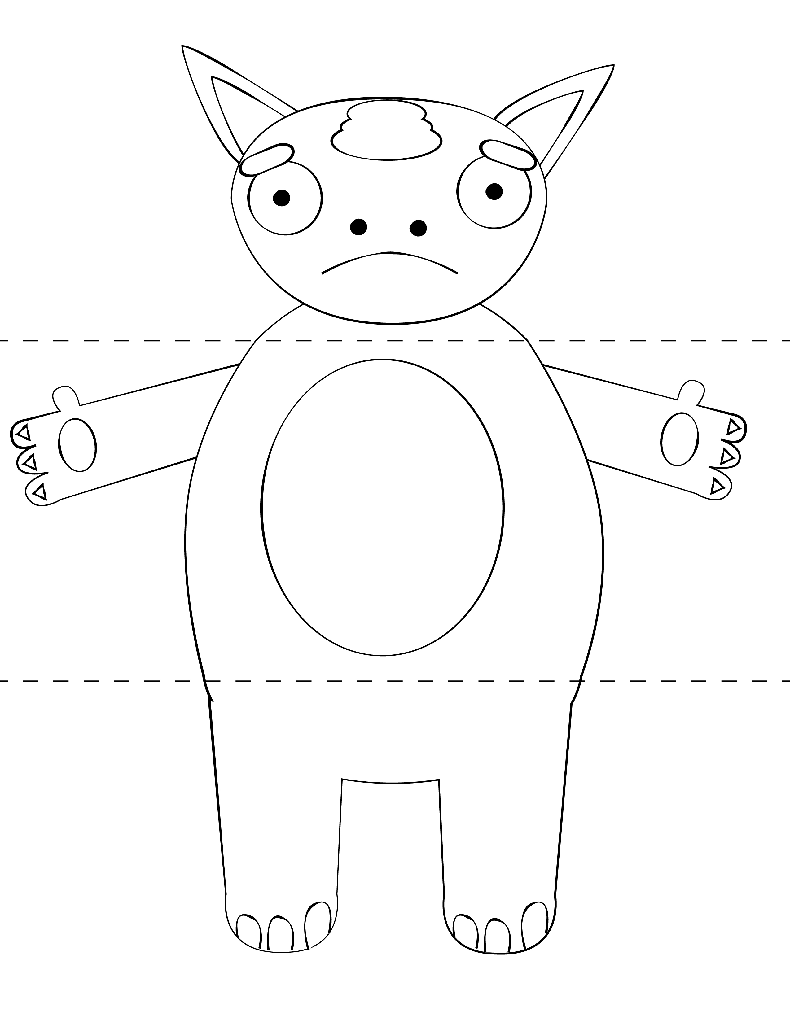 Print Cut Paste Craft Blog Archive Free Kids Craft – Monster Template