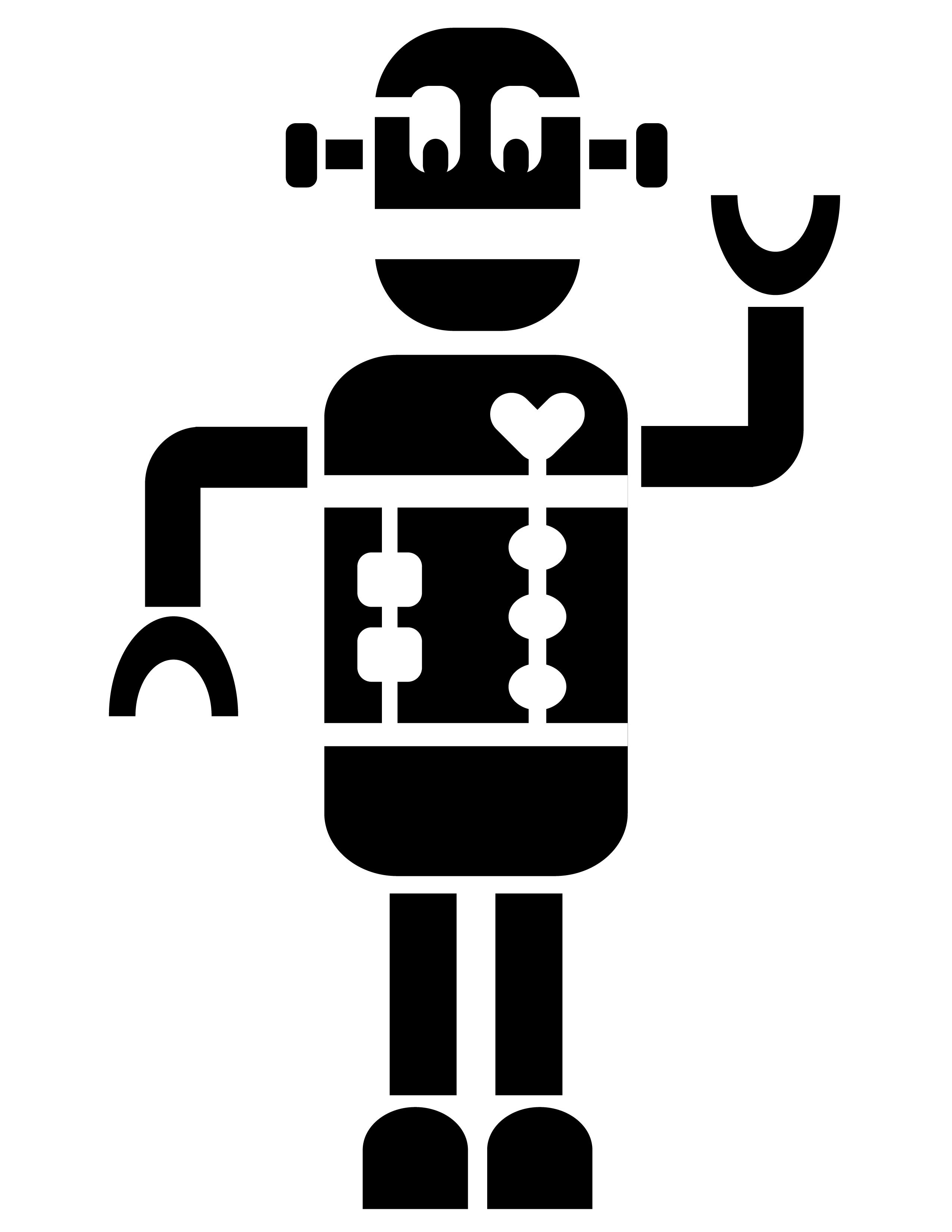 robot stencils pixels. Black Bedroom Furniture Sets. Home Design Ideas