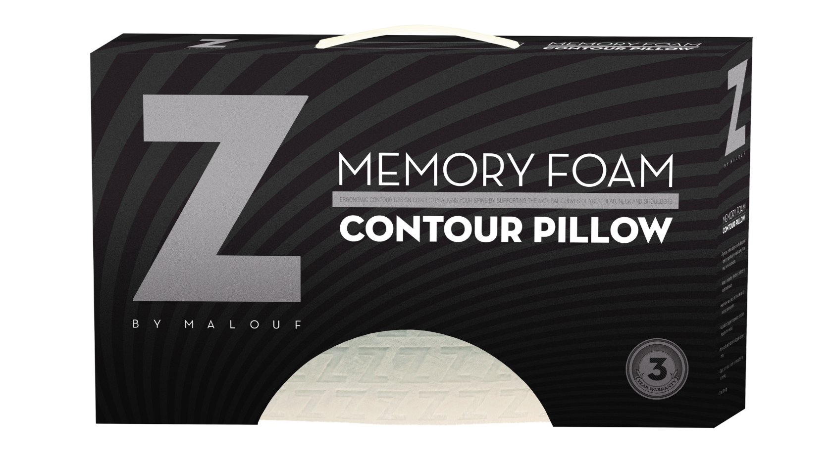 Malouf Memory Foam Contour Pillow - Pillows