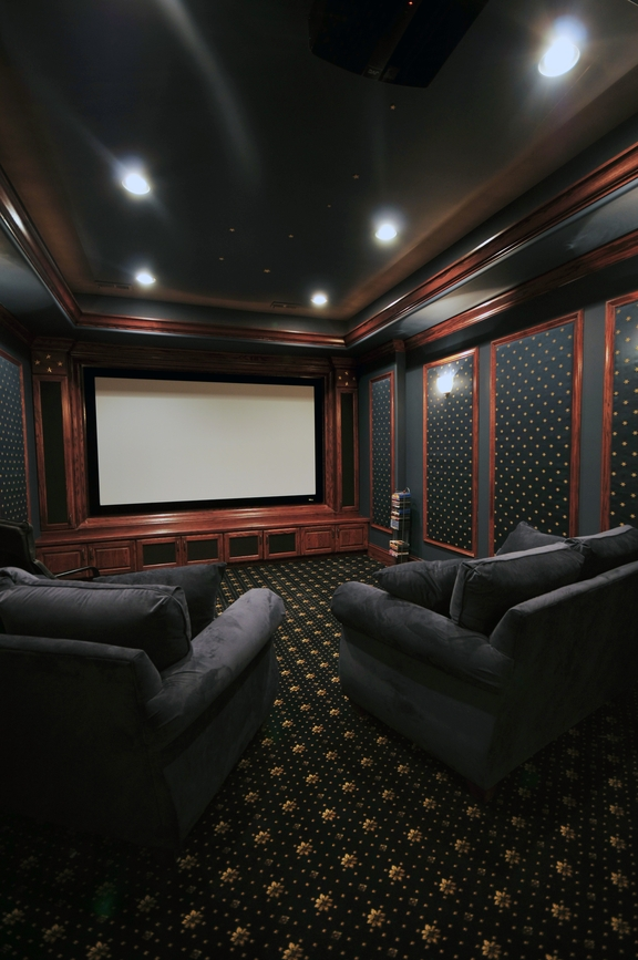 60 finished basement man cave designs awesome pictures for Designing a home theater basement