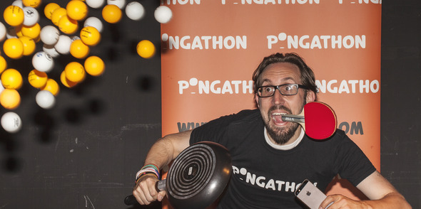 You need a lot of balls for Pongathon!
