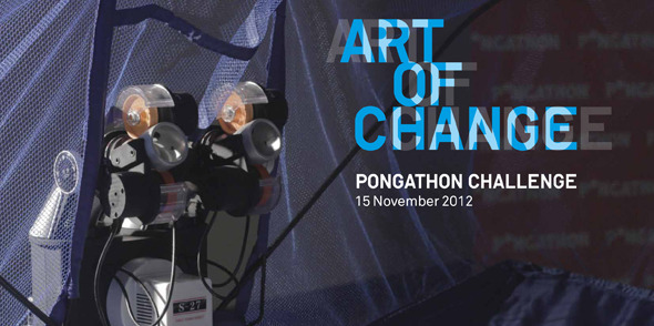 Taking social ping pong to the next level: Art of Change Pongathon Challenge at London's Hayward Gallery