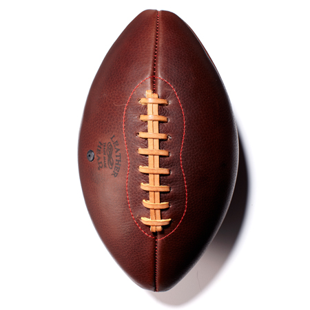 Check out this Handsome Dan Football made in Glen Rock, NJ by Leather Head Sports. Purchase to support 5 American workers. Gets you 1,680 Boom™ Points.