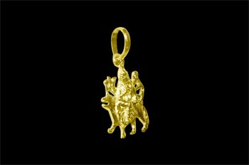 Durga pendant in gold design i mozeypictures Image collections