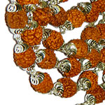 Rudraksha-punchmukhi-mala-in-silver-with-self-design-caps