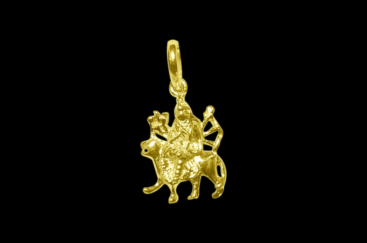 Durga pendant in gold design i durga mozeypictures Image collections