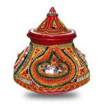 Decorative Earthern Pot for Navratri - Large