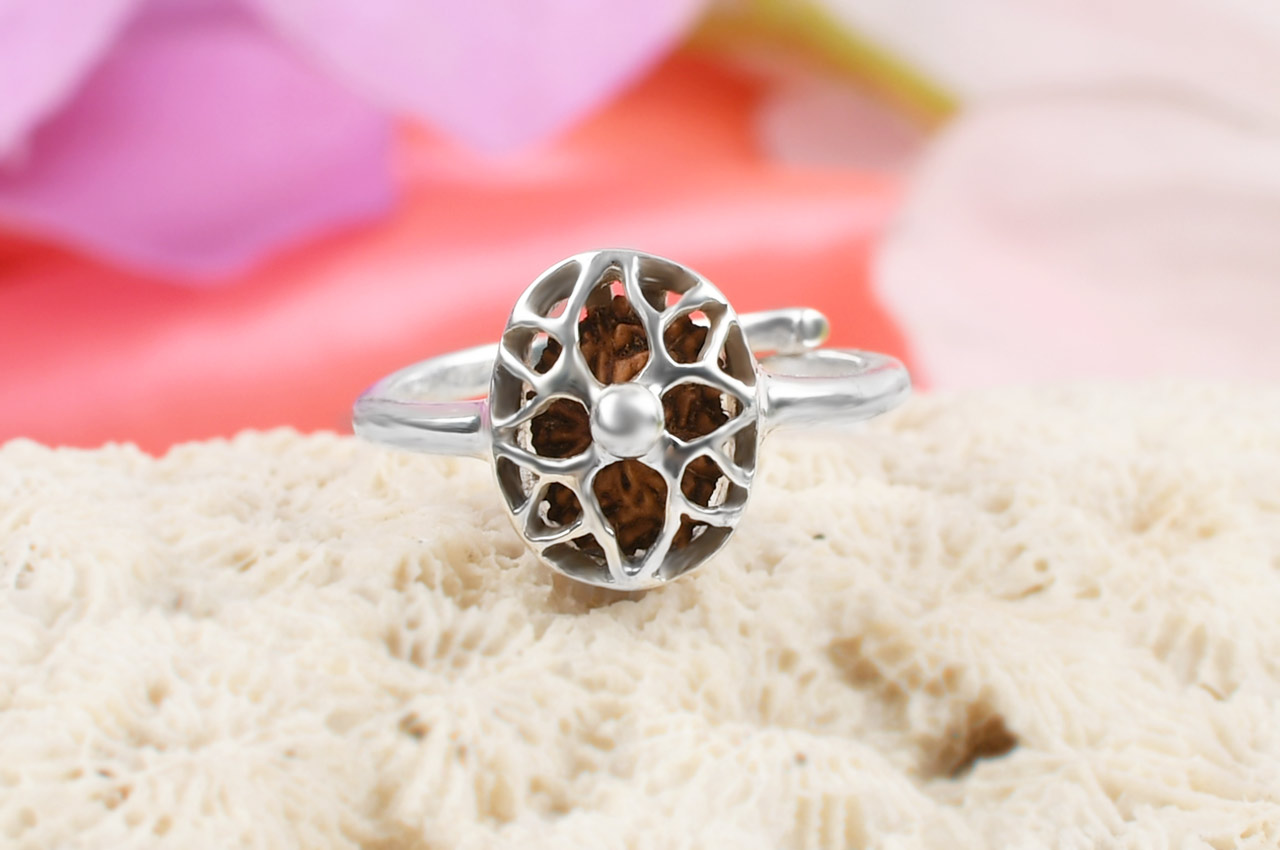 13 Mukhi Rudra Ring - Women