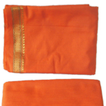 Puja-Dhoti-with-Shawl---Orange