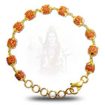 Rudraksha-punchmukhi-bracelet-with-gold-flower-caps