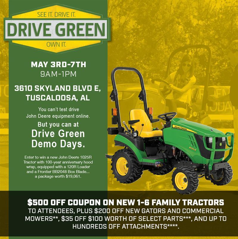 Drive Green in Tuscaloosa