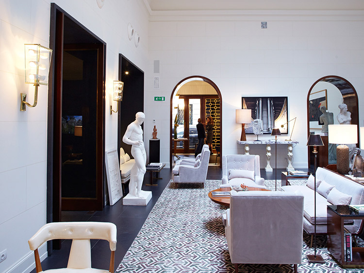 Lobby of the J K Place Hotel Roma