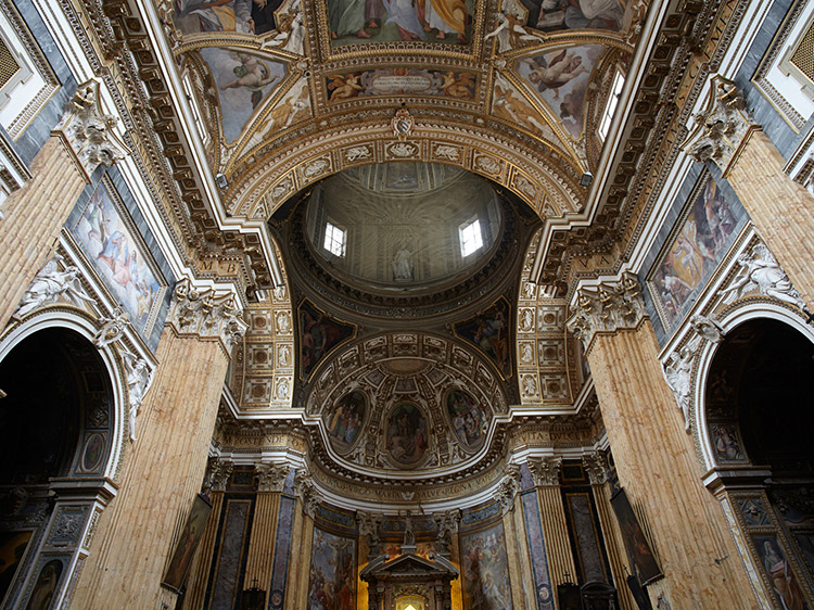 Ceiling of the Santa Maria ai Monti church in Rome