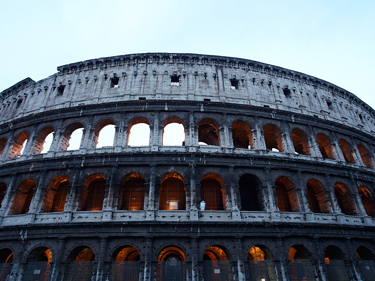 Exterior of the Colosseum