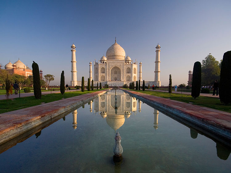 The Taj Mahal.