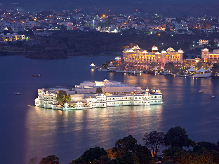 The Taj Lake Palace.