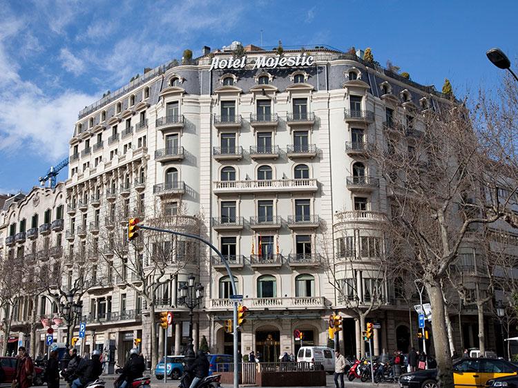 The Hotel Majestic in Barcelona.