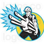 Electrician Rate per Hour Contractors Logo