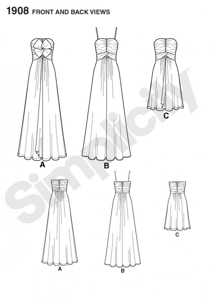 Как сшить платье с высокой талией 48