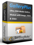 GalleryPlus DNN Media Gallery Module with image, video & slider
