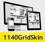 1140 Grid Yellow Mobile Skin Pack & FREE MGS Module & Portal Templates - Compatible Mobile Device an