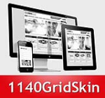 1140 Grid Red Mobile Skin Pack & Portal Templates - Compatible Mobile Device and Desktop Screen
