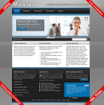 Magnum DNN6 Skin Pack with Multi Menus and XML Slider containers licensed imagery for  DNN 6 & 5