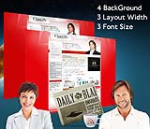 Cleanlily Red W3C Vertical Skin Pack & FREE MGS Module & Portal Template