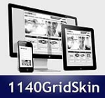 1140 Grid Navy Mobile Skin Pack & MGS Module & Portal Templates - Compatible Mobile and Desktop