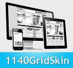 1140 Grid SkyBlue Mobile Skin Pack & MGS Module & Portal Templates - Compatible Mobile and Desktop