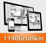 1140 Grid Orange Mobile Skin Pack & MGS Module & Portal Templates - Compatible Mobile and Desktop