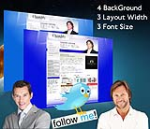 Cleanlily Blue W3C Vertical Skin Pack & FREE MGS Module & Portal Templates