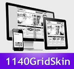 1140 Grid Purple Mobile Skin Pack & FREE MGS Module & Portal Templates - Compatible Mobile Device an