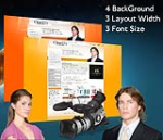 Cleanlily Orange W3C Vertical Skin Pack & FREE MGS Module & Portal Templates