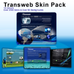 TransWeb Skin Pack DIV W3C XHTML standard compliant MultiBackgrounds and Multi Menus v6