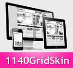 1140 Grid HotPink Mobile Skin Pack & Portal Templates - Compatible Mobile and Desktop Screen