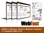 Web Fast Brown Color Xhtml W3C standard compliant 108 skin pack For DNN6/5/4
