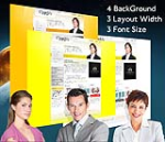 Cleanlily Yellow W3C Vertical Skin Pack & FREE MGS Module & Portal Templates