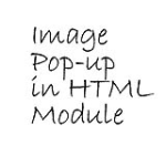 Image Pop-up In HTML Module
